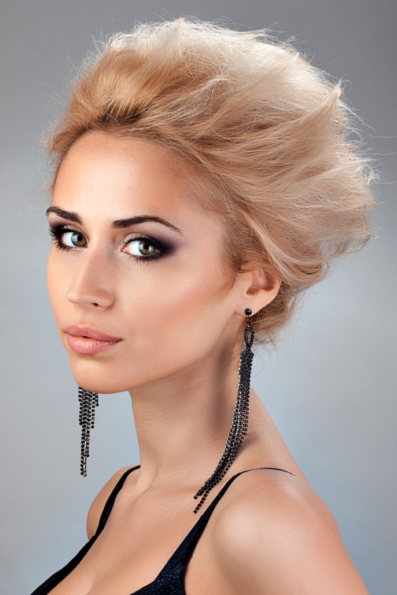 Portrait of beautiful blonde with with Short Hair