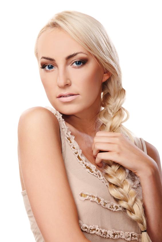 Lady with braid